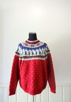 Vintage Eddie Bauer Holiday Patterned Wool by WylieOwlVintage, $30.00