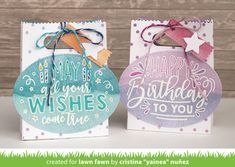 Lawn Fawn Intro: Simple Stripes: Diagonal, Simple Stripes: Landscape, Simple Stripes: Portrait and Giant Birthday Messages - Lawn Fawn Friend Birthday, Birthday Wishes, Birthday Cards, Happy Birthday, All You Need Is, Lawn Fawn Blog, Lawn Fawn Stamps, Happy May, Rainbow Paper