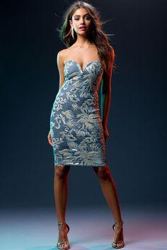 Stella Sequin Velvet Dress