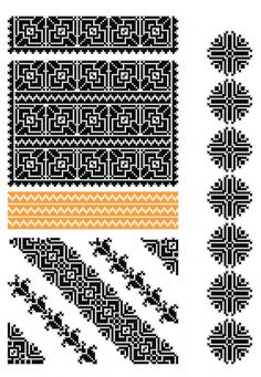 Folk Embroidery, Cross Stitch Embroidery, Embroidery Patterns, Crochet Patterns, Cross Stitch Charts, Cross Stitch Designs, Cross Stitch Patterns, Ethnic Patterns, Knitting Charts