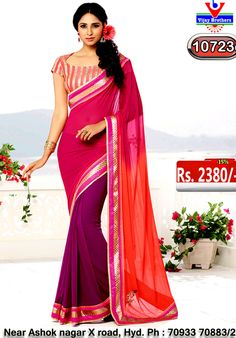 Georgette with pink colour