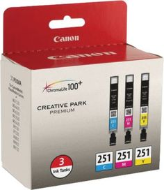 Canon CLI-251 Color C/M/Y Ink Cartridges  3/Pack @ Staples.  $33.99