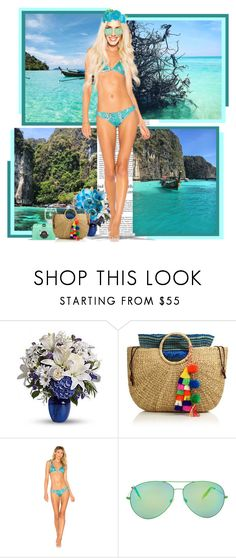 """""""Phi Phi Island ● Thailand"""" by annynavarro ❤ liked on Polyvore featuring Haze, JADEtribe, Beach Riot and Victoria Beckham"""