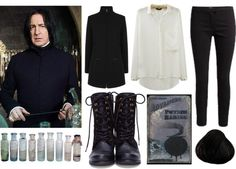 """""""Harry Potter Fashion - Severus Snape"""" by princessgeek86 ❤ liked on Polyvore"""