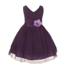 Chiffon Double V Neck Wedding Flower Girl Dress, Made in USA (12, purple) ezMarts http://www.amazon.com/dp/B00JY3L2BA/ref=cm_sw_r_pi_dp_P5eWtb1T400Z900E