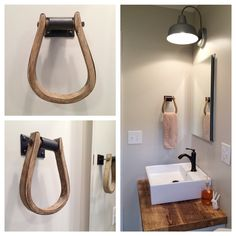 Saddle Stirrup Towel Holder