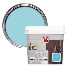 V33 Easy Summer Blue Satin Bathroom Paint 750ml | Departments | DIY at B&Q