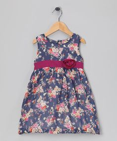 Loving this Blue & Pink Floral Dress - Infant, Toddler & Girls on #zulily! #zulilyfinds