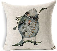 Cotten Linen Throw Pillow Case Home Decor Sofa Cushion Cover Animals by RameCame 22x22 - Brought to you by Avarsha.com