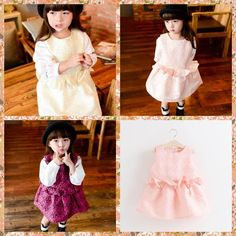 2015 Princess Babies Girls Flower Jacquard Ruffles Party Dresses Western Candy Color Sleeveless Fall Winter Christmas Dresses From Smartmart, $61.36 | Dhgate.Com