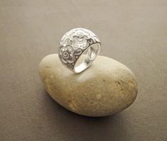 Boho Silver Ring  Sterling Silver 925 Ring with by KRAMIKE on Etsy
