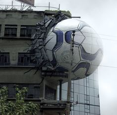 Could we do this for mhs, with a soccer ball hitting the side of the school??