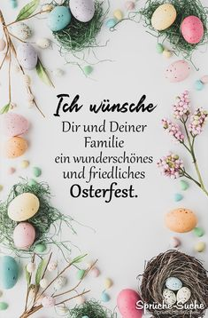 Easter Pictures, Learn German, Yummy Drinks, Happy Easter, Origami, Holiday, Christmas, Place Card Holders, Wreaths