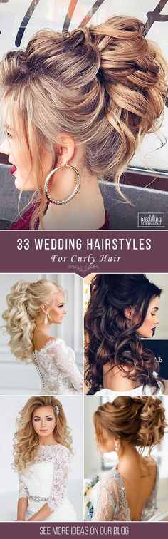 33 Oh So Perfect Curly Wedding Hairstyles ❤️ Almost all of the curly wedding hairstyles are for girls with straight hair. It will create a nice effect for brides. Take a look at different variants See more: http://www.weddingforward.com/curly-wedding-hairstyles/ #weddings #hairstyles #curlyweddinghairstyles