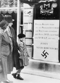 Nazi Poster Hanging in a Shop Window - U840033INP - Rights Managed - Stock Photo - Corbis