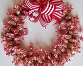 Candy Wreath Caramel Creme Edible Decoration Present