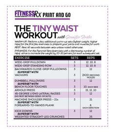 Tiny Waist Workout With IFBB FIgure Pro Gennifer Strobo