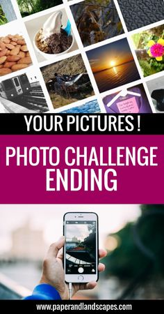 See your pictures for the challenge in our blog! - Photo Challenge Ending - 2016 - Paper and Landscapes