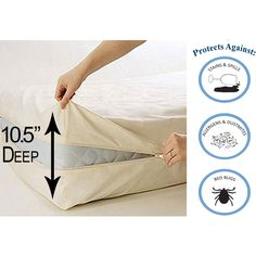 Deluxe Vinyl Zippered Mattress Protector Cover Extra Heavy Bed Bugs Dustmites Shield Waterproof Hypoallergenic Twin Full Queen King