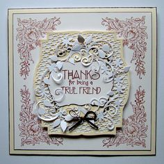 This was one of my TV show samples created for Chocolate Baroque with the lovely Lace Fragments stamps, which were recently demonstrated on the Craft Channel TV show by Lesley Wharton - by Anne Waller #chocolatebaroque.
