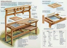 Pallet potting bench instructions;)  if only we'd had these a couple of weeks ago ;)