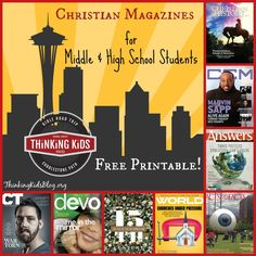 Check out this list of Christian magazines for middle and high school students - with a free printable resource list for your youth group or co-op.