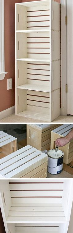 Check out how to build an easy DIY bathroom storage unit from crates @istandarddesign