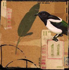 Bird 11 collage art-ML Kellgren