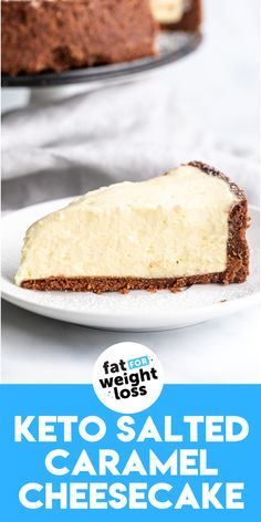 The filling of this cheesecake is set using gelatin and collagen, which is fantastic for your joints, hair, nails and skin. Who would have thought that the health benefits of collagen would be so tasty! #ketocheesecake #ketodessert Salted Caramel Cheesecake, Keto Cheesecake, Keto Cake, Keto Shrimp Recipes, No Carb Recipes, Sugar Free Recipes, Low Carb Desserts, Dessert Recipes, Breakfast Recipes