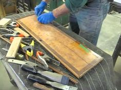 Restoring the Door to a Tall Case Clock - Thomas Johnson Antique Furniture Restoration - YouTube