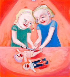 lena cronqvist (född 1938) Mest känd för att måla barns (för det mesta flickors) utsatthet i samhället och familjen.
