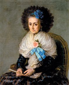 "Francisco Goya:  María Antonia Gonzaga, Marchioness of Villafranca, 1795.  From ""The Dark & Light of Francisco Goya""--Colm Tóibín's review in the NYRB of Goya:  Order and Disorder, an exhibition at the Museum of Fine Arts, Boston, October 12, 2014-January 19, 2015. ""She was a sixty-year-old widow, mother-in-law of the Duchess of Alba. ""...simply one of his best paintings, and it needs a more neutral setting than a wall between an innocent boy in red and the two gruesome old women."""