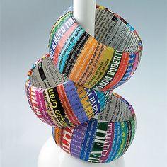 Magazine Scrap Bracelets