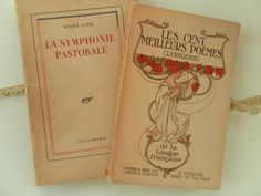 Pair of  Antique French Books by ArtandBookShop on Etsy