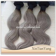 Alibaba express 100% virgin brazilian hair, hair color grey brazilian hair, ombre color hair extensions in qingdao