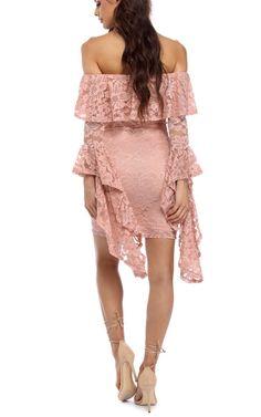 Nicole Pink Drama Sleeve Dress via @bestfashionhq
