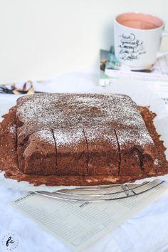 Rezept für einen Kakaokuchen meiner Oma Wiener Schnitzel, Tiramisu, Deserts, Cake, Ethnic Recipes, Food, Fitness, Kuchen, Essen