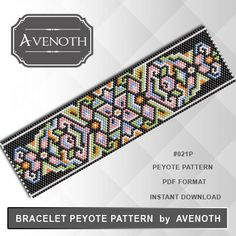 PLEASE NOTE: In purchasing this item, you are buying only a PATTERN in PDF format. This pattern is also intended for users that have experience with peyote, because the pattern does NOT include instructions on how to do this stitch.  It will be available for instant download as soon as payment is received. If you don't know how to download digital file after purchasing, this link might help you: https://www.etsy.com/help/article/3949?ref=help_search_result  INFORMATION ABOUT PATTERN Beads…