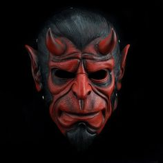Check Hellboy Cosplay mask replica material, dimensions, color, view Hellboy red mask detail images, buy good quality Hellboy cosplay mask for Halloween or masquerade Creepy Masks, Cool Masks, Sculpture Head, Abstract Sculpture, Halloween Horror, Halloween Masks, Hellboy Movie, Ronin Samurai, Diesel Punk
