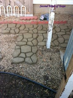 DIY- concrete patio  Also used Quikrete® Powerloc® Jointing Sand between the stones. Easy to use.