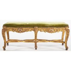 Louis XV Style Carved Gilt Wood Bench Sold $3,000.