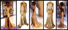 Gold sequins matric dance dress with tummy side openings, an open back, a slit, long sleeves and gold pearly strings hanging from the back. Matric Farewell Dresses, Matric Dance Dresses, Prom Dresses, Prom Dance, Gold Sequins, Dress Making, Ballet Shoes, Lady, Long Sleeve
