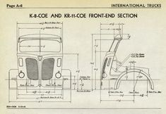 Dimensional drawing or chassis diagram for International and trucks. Go Kart, Historical Society, Old Trucks, Wisconsin, 4x4, Diagram, Drawings, Mercedes Benz, Ford