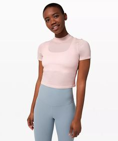 athletic apparel + technical clothing | lululemon Boyfriend Tee, Mock Neck, Latest Fashion Trends, Plus Size Outfits, Plus Size Fashion, Short Sleeves, T Shirts For Women, Tees, Clothes