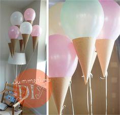 Kinderfeestje? Maak zelf deze geweldige ijsjes ballonnen, supersimpel en succes verzekerd! Ook top bij een shower party of geboorte van een kind!