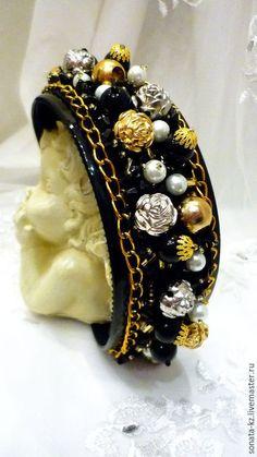 Купить Ободок-тиара в стиле D&G - черный, ободок для волос, ободок в стиле дольче