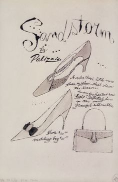 Aandy Warhol for Palizzio, 1955 Andy Warhol Drawings, Andy Warhol Art, Found Art, Line Illustration, American Artists, Doodle Art, Pop Art, Poster Prints, 1930s