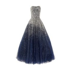 It looks like the night sky exploded on this dress! :) ❤ liked on Polyvore featuring dresses, gown, kensie, kensie dresses and blue dress