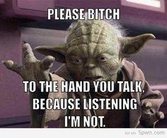 Ha! Star Wars Yoda.