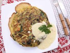 Receta | Tortilla de espinacas con tomatitos y camembert - canalcocina.es